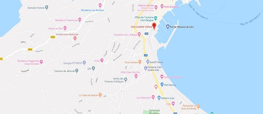 Location voiture port Calvi